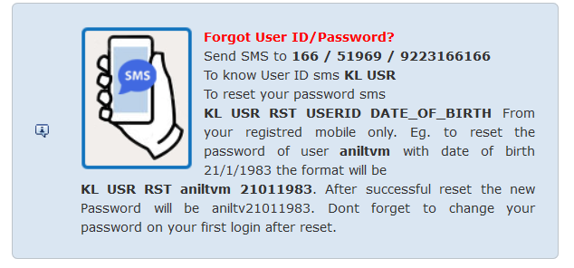 kerala psc forgot password